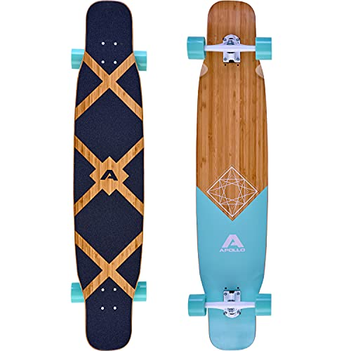 Apollo Dancer Longboard Bora, 46 x 9,5 Zoll, ABEC 9 Kugellager, stylische Longboards, perfekt zum Dancing für...