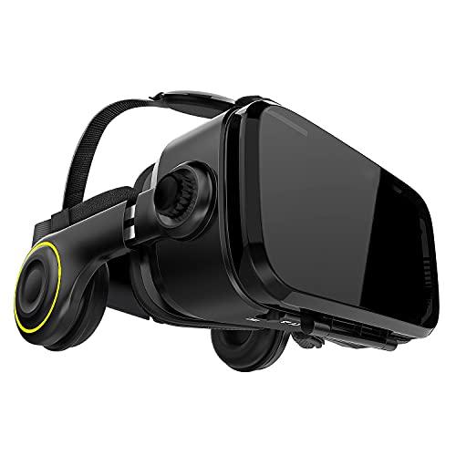 Hi-SHOCK Premium VR Brille - X4 - Gaming Brille für 3D Spaß - VR Headset mit integrierten Kopfhörern für...