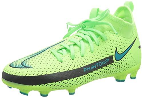 Nike Unisex Jr. Phantom GT Academy Dynamic Fit MG Fussballschuh, Lime Glow/Aquamarine, 38.5 EU
