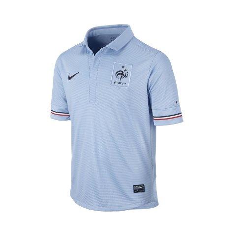 Nike Jungen kurzärmeliges Auswärtstrikot Französischer Fußballverband Replica, Ice Blue/Obsidian, L,...
