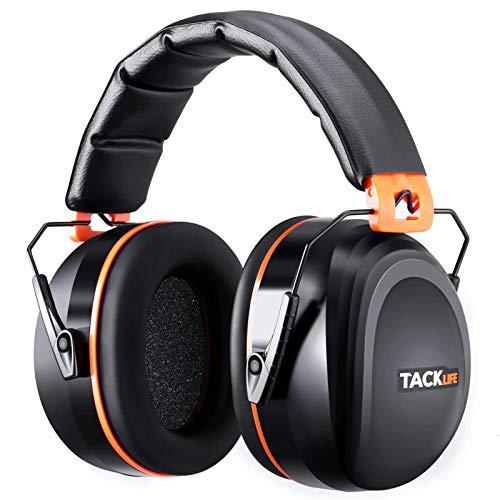Gehörschutz, TACKLIFE Kapselgehörschutz mit SNR 34dB und CE-Zertifizierung, verstellbare und komfortabele...