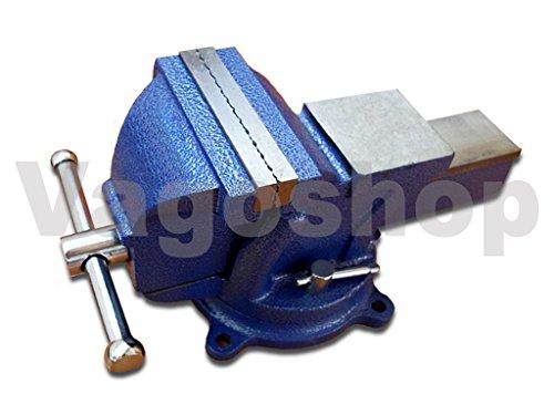 Schraubstock Parallel 150 mm 6' drehbar 360° für Werkbank Amboss Drehteller BLAU
