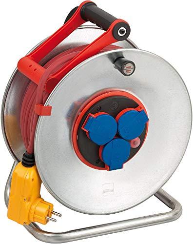 Brennenstuhl Garant S Bretec FI IP44 Kabeltrommel, 40m - Stahlblech (ständiger Einsatz im Außenbereich, Made...