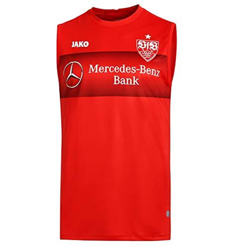JAKO Erwachsene VfB Stuttgart Teamline Tanktop, rot, L