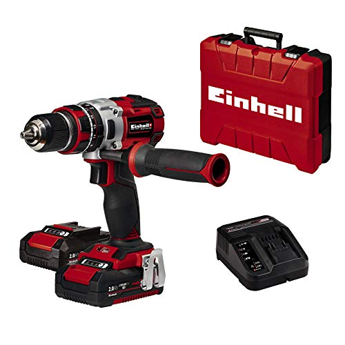 Einhell Akkuschrauber TE-CD 18 Li-i Brushless Power X-Change (mit Schlagfunktion, Li-Ion, 18 V, 2 Gang, 60 Nm,...