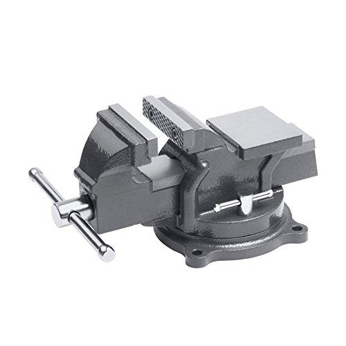 Meister Schraubstock - Drehbar - 100 mm Spannweite - Hochwertige Stahlbacken - Sicheres Fixieren von...