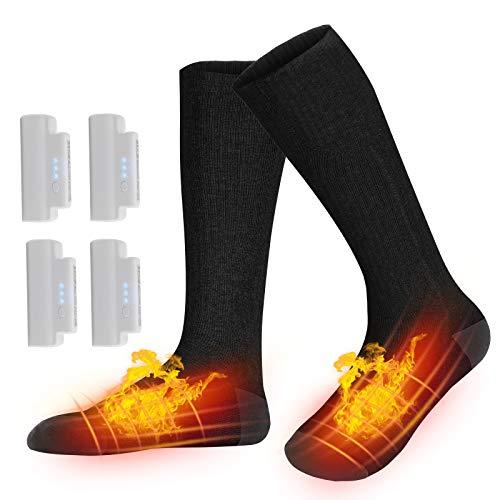 Karcore Beheizbare Socken, Elektrische Warme Socken, Fusswärmer Socken Heated Socks, Wiederaufladbare...