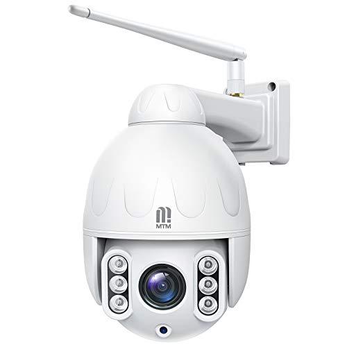5MP PTZ WiFi Überwachungskamera Aussen, MTM IP Dome Kamera mit 5X Optischem Zoom und Autofokus,...