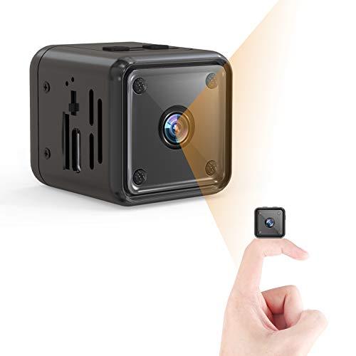 Mini Kamera, 1080P HD Kleine Überwachungskamera Lange Batterielaufzeit Videoanrufkamera Nanny...