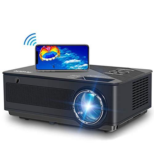 Beamer, FANGOR 2020 Native 1080P Full HD Beamer, WiFi Bluetooth Beamer support 4K Video, 250 ''Display 7500...