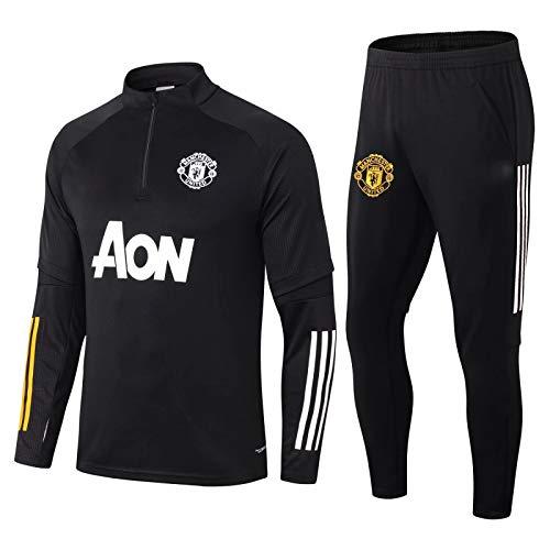 LZMX Fußballspiel Fußball Kleidung mit Langen Ärmeln Half-Zip-Top + Pants 2-teiligen Offizielle...