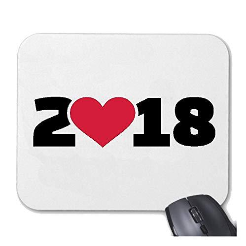 Helene Mousepad Mauspad I Love 2018 - Silvester - JAHRESWECHSEL - Feuerwerk - SILVESTERKNALLER für ihren...