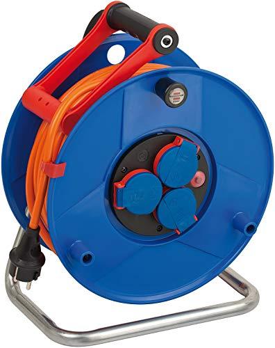 Brennenstuhl Garant IP44 Kabeltrommel (40m Kabel in orange, Spezialkunststoff, Einsatz im Außenbereich, Made...