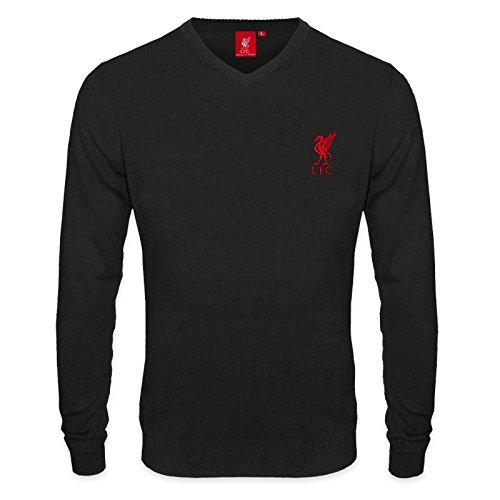 Liverpool FC - Herren Strickpullover mit Vereinswappen - Offizielles Merchandise - Geschenk für Fußballfans...