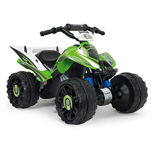 INJUSA - Kawasaki Quad ATV 12V mit Rückwärtsgang und elektrischer Bremse für Kinder ab 2 Jahren