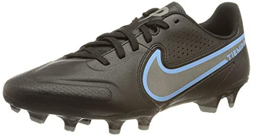 Nike Herren Legend 9 Academy Fg/Mg Fußballschuh, Black/Black-Iron Grey, 42 EU