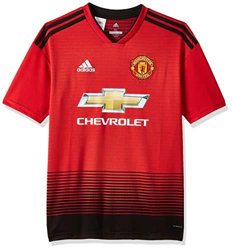 adidas Kinder 18/19 Manchester United Home Trikot, real red/Black, 176 EU