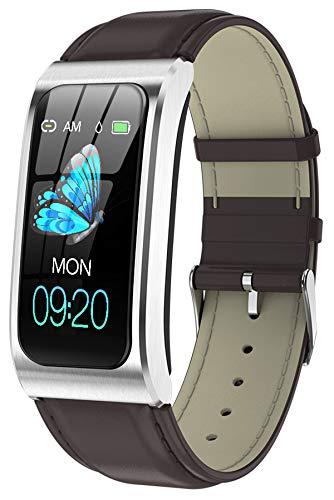 Fitness Armband Uhr mit Blutdruckmessung IP68 Wasserdicht Pulsuhr Sport Damen Herren IOS Android Smartwatch...