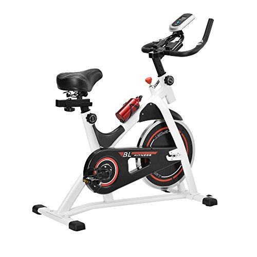 [in.tec] Heimtrainer Fahrrad Fitness Bike Trimmrad Indoor Cycling Rad Sattel Fitnessgerät