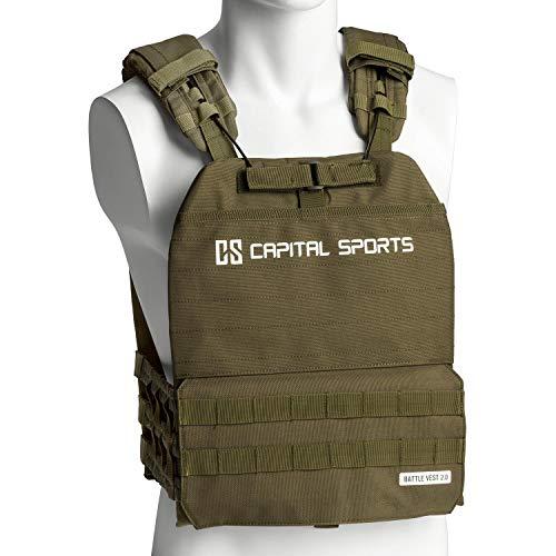 Capital Sports Battlevest 2.0 Gewichtsweste,inklusive 4 Gewichtsplatten: 2X 5.75 lbs & 2X 8.75 lbs,hoher...