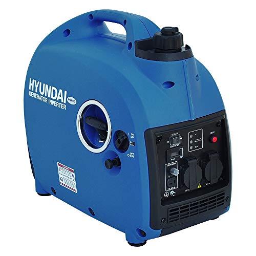 HYUNDAI Inverter-Generator HY2000Si D (Inverter Stromerzeuger, tragbarer Benzin Generator mit 2 kW...