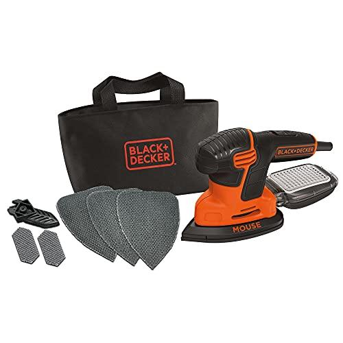 Black+Decker Dreieckschleifer Mouse KA2000 – Kraftvolle Schleifmaschine mit Staubfangbehälter inkl....