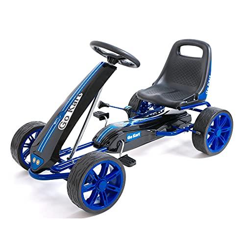 wuuhoo® I Go Kart Niki mit verstellbarem Schalensitz, Handbremse und Freilauf I Gokart mit weichen PU Reifen...