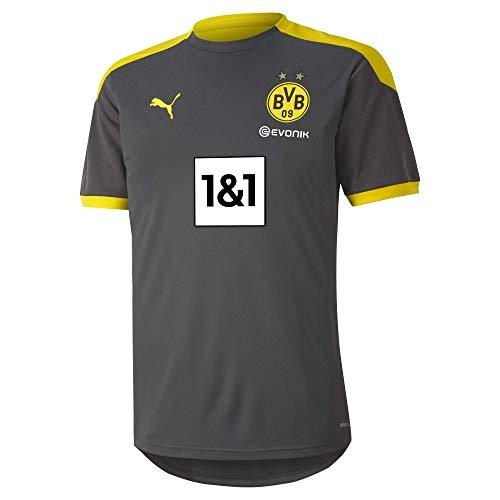 PUMA Herren T-Shirt BVB Training Jersey New, Asphalt-Cyber Yellow, L, 931127