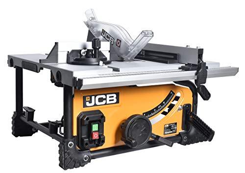 JCB Profi Tischkreissäge 210JS (1500W, HM Sägeblatt 210 mm, Schnitttiefe 50-70 mm, Schnittwinkel 45-90 Grad,...
