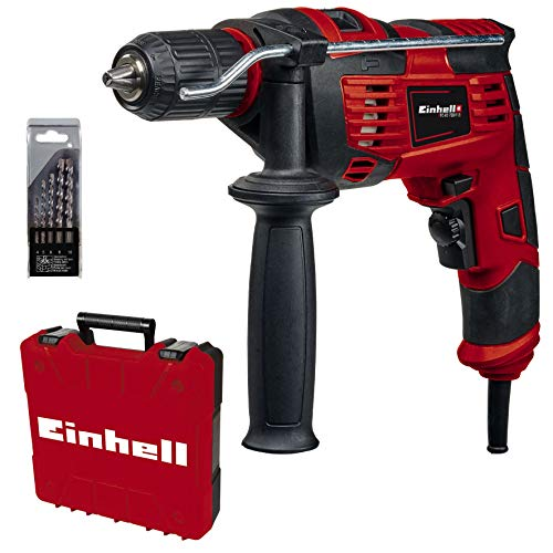 Einhell 4259846 Schlagbohrmaschinen-Set TC-ID 720/1 E Kit (720 W, Bohren/Schlagbohren, 13...