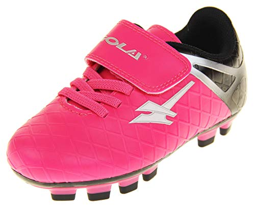 """Gola """"Activo5"""" - Turnschuhe für Jungen und Mädchen für Einsatz bei Fußball auf Kunstrasen , Pink -..."""