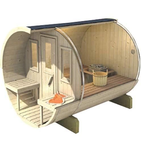 SERENDIPITY BAZAR Sauna Barril 250 Finnische Sauna, Querform, Fasssauna für den Außenbereich