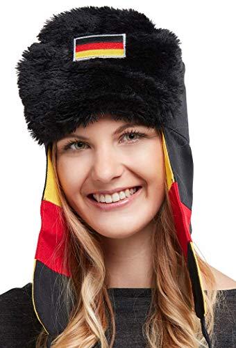 FanUschanka Deutschland - Die Party-Mütze für Après-Ski Fanartikel I Fanmütze I Fanhut I Partyhut