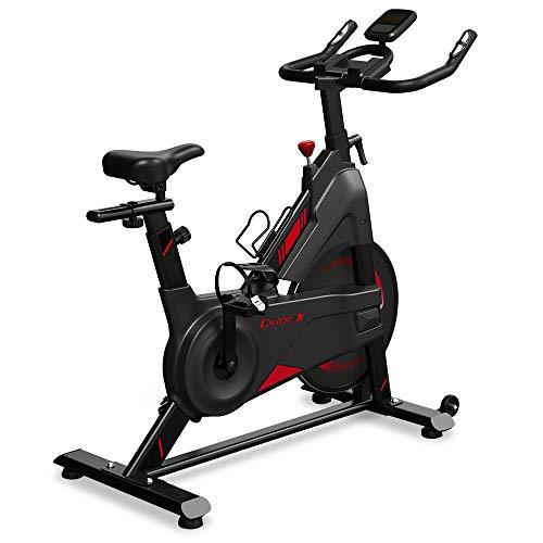 Dripex Heimtrainer Speedbike Indoor Cycle mit Magnetwiderstand(2021 Neu Upgraded)Stufenlose...