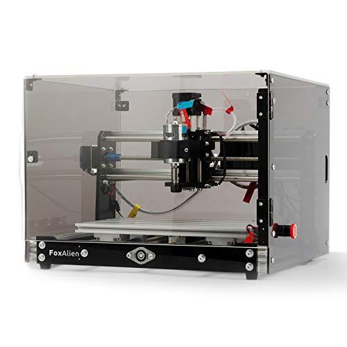 Desktop CNC Fräsmaschine/Graviermaschine 3018-SE V2 mit Transparenten Kasten, 3-Achsen Gravurfräsmaschine...