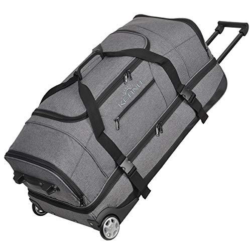 KEANU Reisetrolley Rollen Reisetasche :: XL Trolley Scooter :: 85 Liter Volumen, 2 getrennte Hauptfächer,...