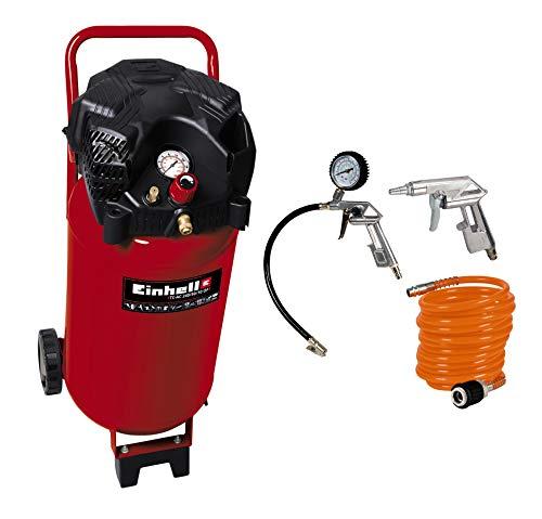 Einhell Kompressor TH-AC 240/50/10 OF (1,5 kW, 50 L, Ansaugleistung 240 l/min, 10 bar) + Druckluft Set,...