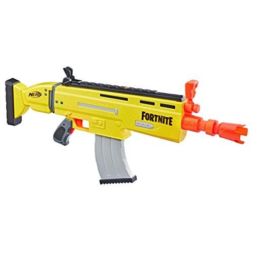 Nerf E6158EU4 AR-L Motorisierter Spielzeug Blaster, 20 Fortnite Elite Darts, Klappvisier – Für Jugendliche...