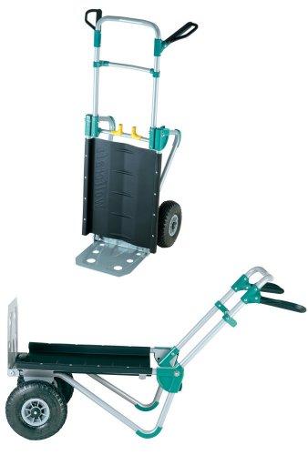 wolfcraft TS 1000 Transportsystem 5520000 | 2in1 Sackkarre & Schubkarre für Lasten bis 200 kg | Klappbarer...