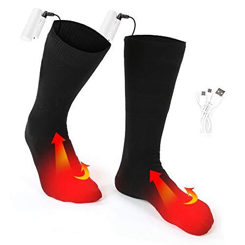Wiederaufladbare Batterie Beheizte Socken 3 Temperaturniveau einstellbar im Freien warme Wintersocken Männer...