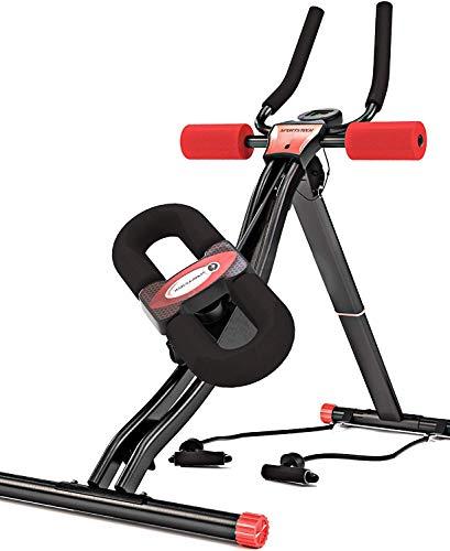 Sportstech BT300 Profi Bauchtrainer mit schwenkbarer Knieauflage für Seitliche Bauchmuskeln, S-Form Schiene,...