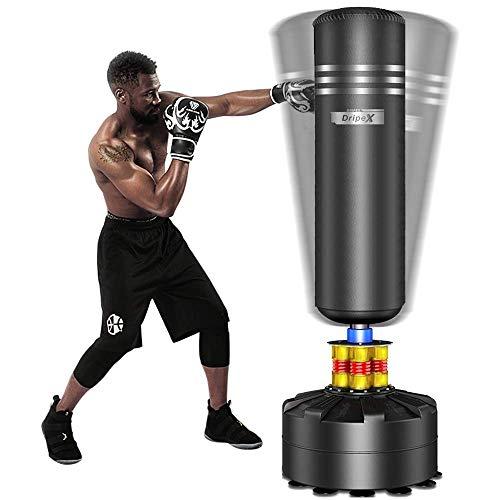 Dripex Boxsack Erwachsene Freistehender Standboxsack MMA Boxpartner Boxing Trainer Heavy Duty Boxsack mit...