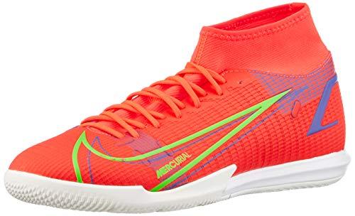 Nike Herren Mercurial Superfly 8 Academy IC Football Shoe, Bright Crimson/Metallic Silver-Indigo...