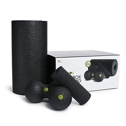 BLACKROLL® BLACKBOX, Faszienrollen-Set für die Selbstmassage, BLACKROLL® Set: BLACKROLL® STANDARD, MINI,...