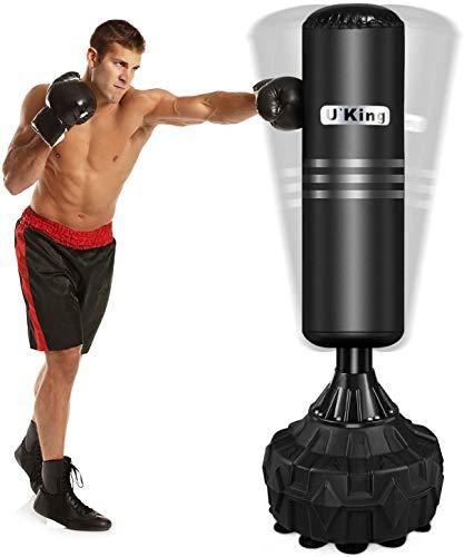U`King Boxsack Erwachsene Freistehender Standboxsack MMA Boxpartner Boxing Trainer Heavy Duty Boxsack mit...
