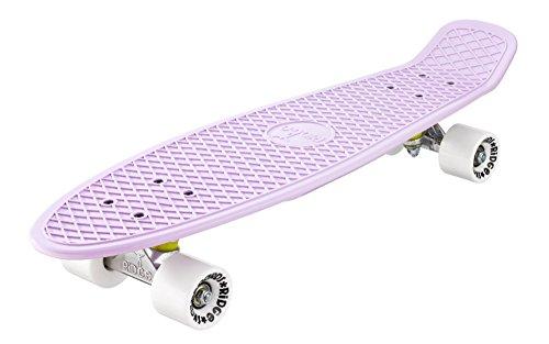 Ridge Pastels 27' Cruiser Board EU-hergestelltes Skateboard Skate Komplett, Rose-White