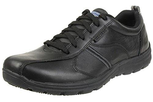 Skechers Men's Hobbes-Frat Safety Shoes, Black (Blk), 7.5 UK 41 1/2 EU