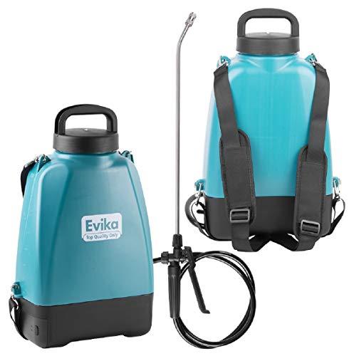EVIKA Akku Drucksprüher 8 Liter | Rückenspritze mit Akku | 10.8V Li-Ion Batterie | 52cm Sprühlanze |...