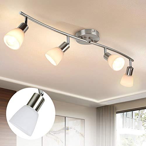 PADMA LED Deckenstrahler Deckenlampe schwenkbare Deckenleuchte Metall Chrom Spotbalken für...