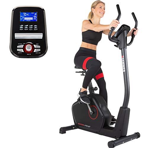 HAMMER 4862 Ergometer Cardio XT6 BT, leises Fitnessfahrrad mit tiefem Einstieg und Comfort-Sattel, 13 kg...